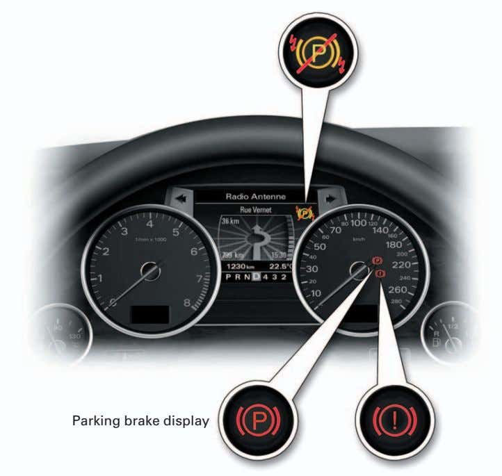 Parking brake display