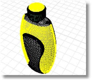 the parts into a single mesh. The bottle now selects as one piece. Copyright © 2004