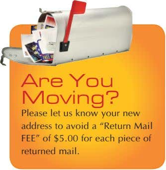 "Are You Moving? Please let us know your new address to avoid a ""Return Mail"
