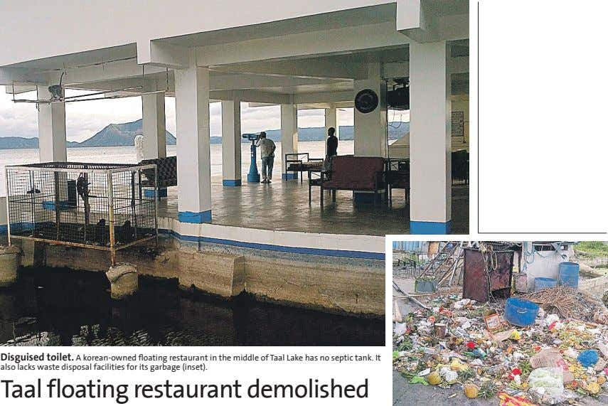 Disguised toilet. A korean-owned floating restaurant in the middle of Taal Lake has no septic