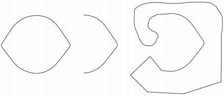 FIGURE 3 | The Lemon Illusion is not specific to closed contours; illusory curvature is also