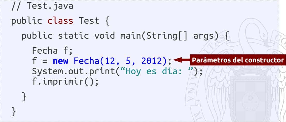 // Test.java public class Test { public static void main(String[] args) { Fecha f; f