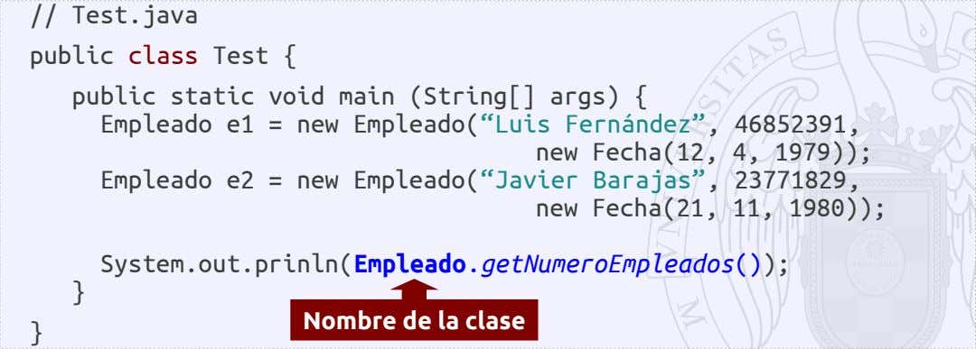 // Test.java public class Test { public static void main (String[] args) { Empleado e1
