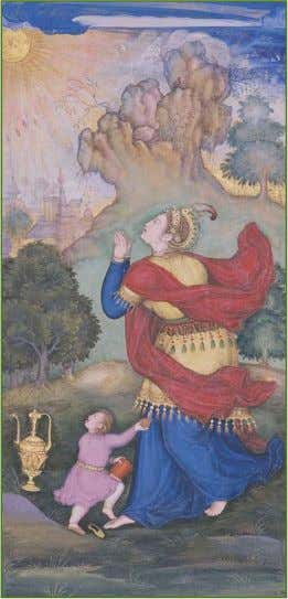 2 Art October 8-14, 2011 TheSouthAsianTimes.info Woman worshipping the Sun - Page from a Jahangirnama Album.