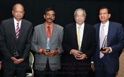 (from left) Dr. Arogyaswami Paulraj, K. Sridharan, Purnendu Chatterjee and Manoj Singh – 4 of the