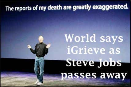World says iGrieve as Steve Jobs passes away
