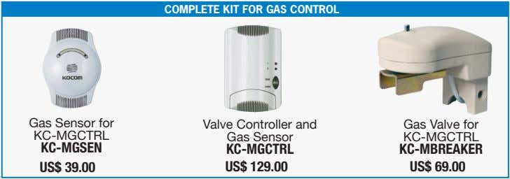 COMPLETE KIT FOR GAS CONTROL Gas Sensor for KC-MGCTRL Valve Controller and Gas Sensor Gas