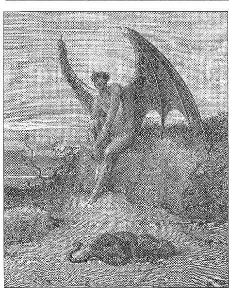 r 1 9 3 Luziel Lucifer contemplates the serpent. From a nineteenth- century edition of Milton's