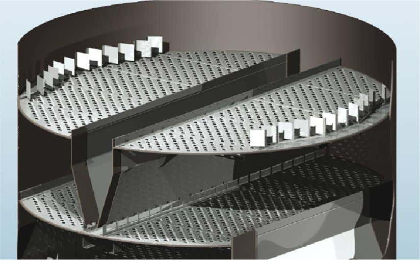 Some special type of trays: Sulzer VG-Plus High performance tray: -Chordal high performance down-comer. -Enhanced deck