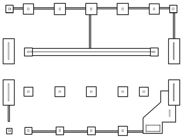 2.1-2 VIEW OF A FOUNDAITON SLAB WITH INTEGRATED GRADE BEAMS FIGURE 2.1-3 PLAN OF A FOUNDAI