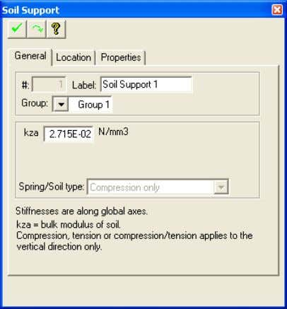 TUTORIAL Chapter 6 FIGURE 1-8 SOIL/AREA SPRI NG PROPERTY DIALOG BOX  The plan view of