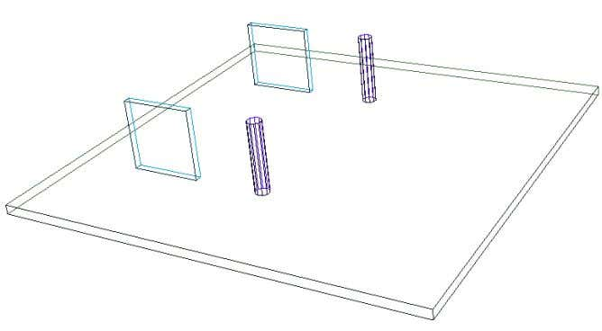 model in line ) and zoom the model to examine its geometry. FIGURE 1-10 THREE-DIMENSIONAL VIEW