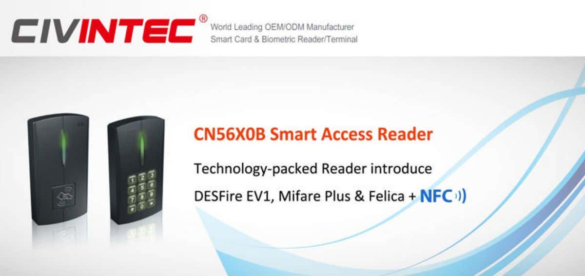 Optimized to make physical access more secure and smart, CN56X0B access readers introduce multi-technique to