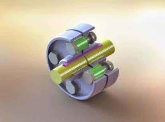 Bushed -Pin Flexible coupling  Similar to rigid coupling. Instaed of bolts, Pins & rubber bush