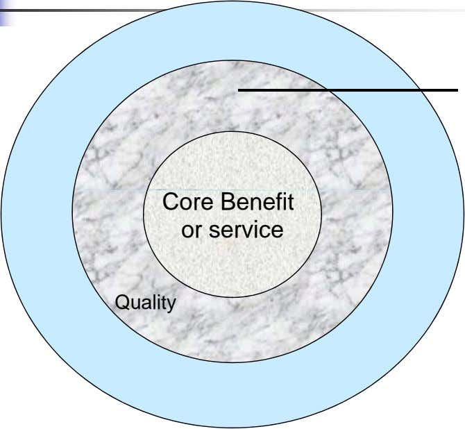 Core Benefit or service Quality
