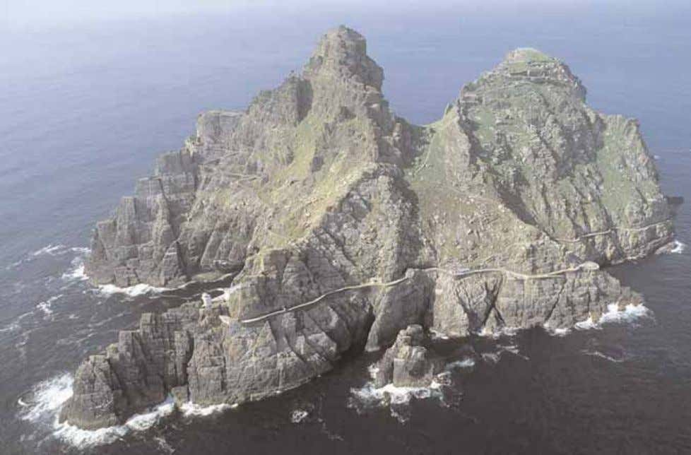 period of history and a civilisation that has disappeared. Pl. 2 - Aerial view of Skellig