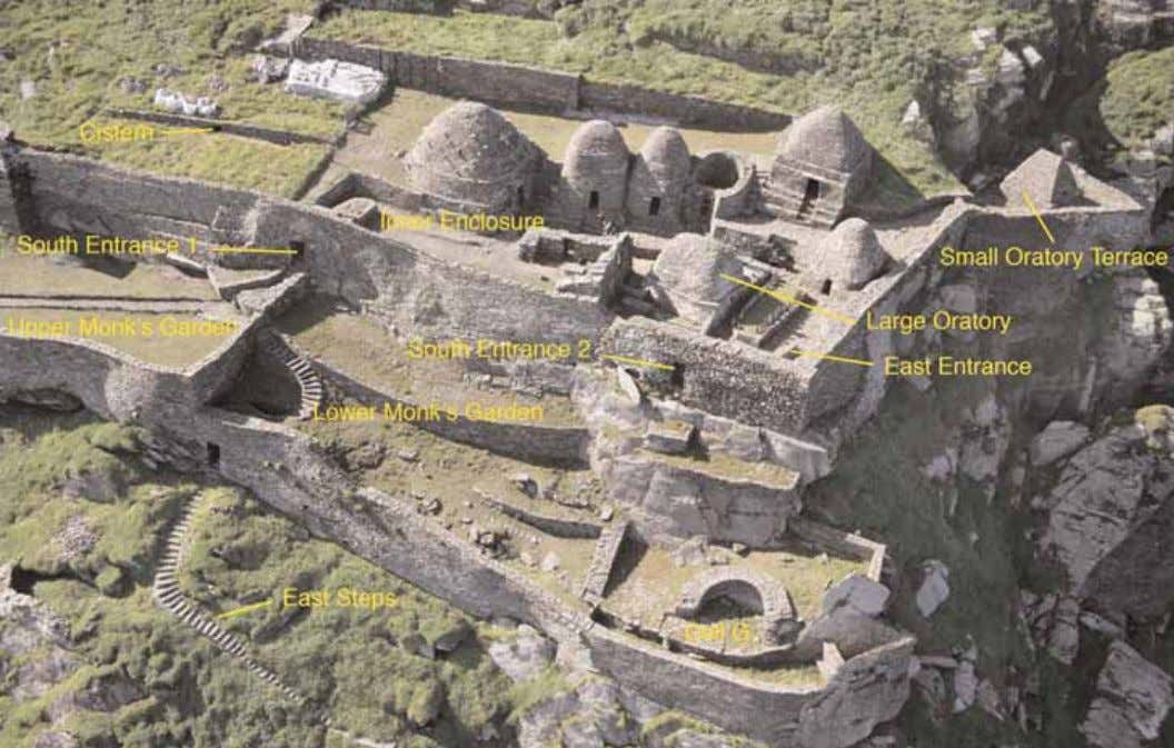 Skellig Michael World Heritage Site Management Plan 2008-2018 Pl. 4 - Aerial view of the Monastery,