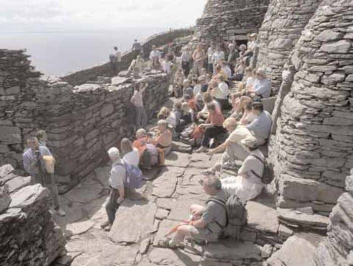 Skellig Michael World Heritage Site Management Plan 2008-2018 Pl. 21 - A guide giving a talk