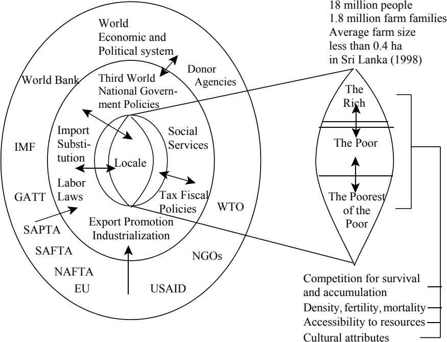 World Economic and Political system 18 million people 1.8 million farm families Average farm size