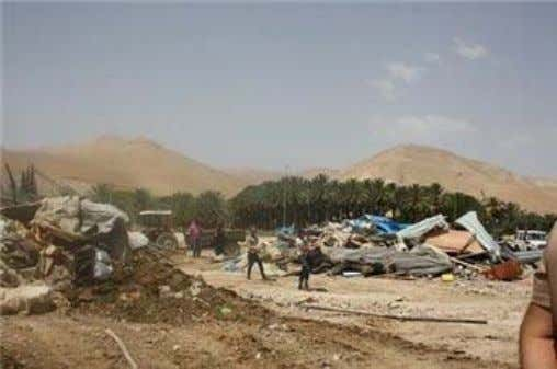 05/23/2014 Maan (MaanImages) JERICHO -- Israeli forces on Wednesday demolished 20 structures belonging to a