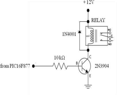 the hair dryer in the heating of the paper. The relay circuit will be controlled by
