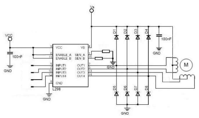 45 Figure 11 Stepper Motor Driver The circuits above are circuits that drive the motors of