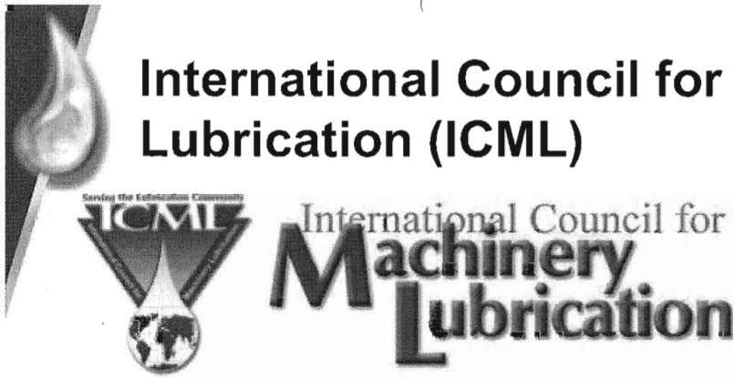 ( (. International Council for Machinery Lubrication (ICML) ubecouncif.org 8) 742-2950 u becouncil.org O Copyright
