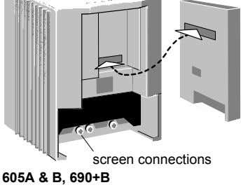 screen connections 605A & B, 690+B