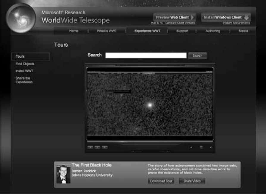 74 Chapter 3 Figure 3.7 Screenshot of the interface for WorldWide Telescope ( http://www .worldwidetelescope.org ,