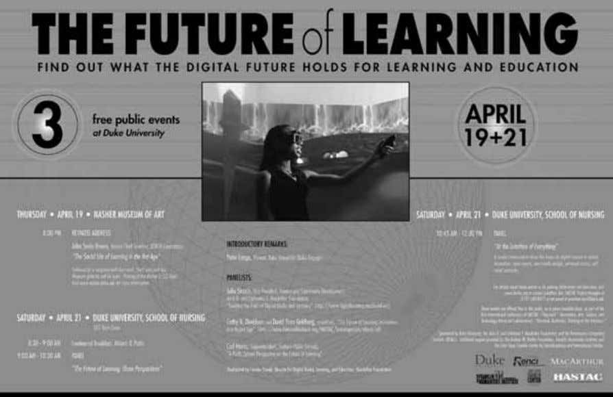 HASTAC 159 Figure 6.4 The Future of Learning Poster ( http://www.hastac.org/blogs/cathy