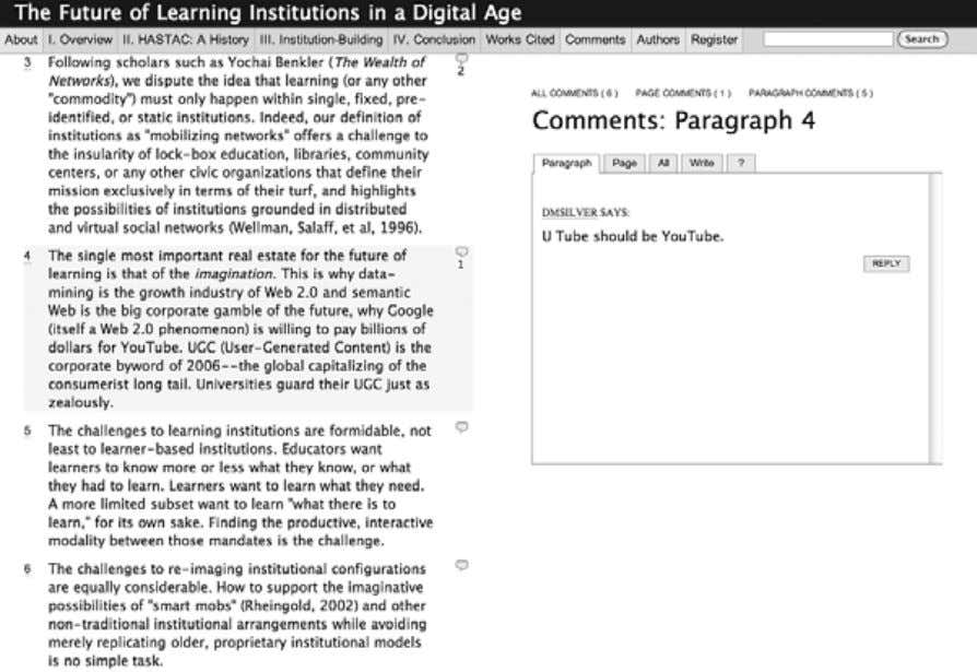 Introduction and Overview 11 Figure 1.2 Screenshot of the Institute for the Future of the Book