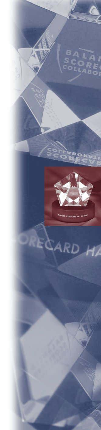 A Balanced Scorecard Hall of Fame ™ Profile Motorola's Government and Enterprise Mobility Solutions HARVARD