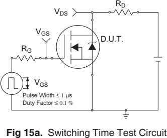 ≤ 1 ≤ 0.1 % Fig 15a. Switching Time Test Circuit