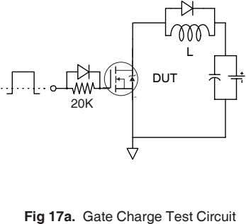 L DUT 20K 1K Fig 17a. Gate Charge Test Circuit