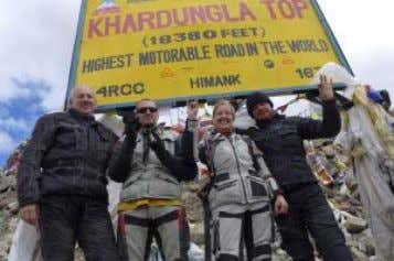 meters ascent to Khardung La pass, the highest motorable road in the world.