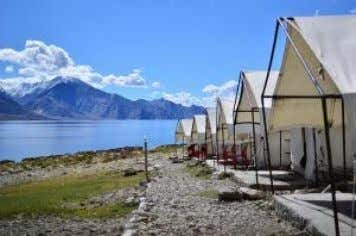 of Pangong Tso lake. We'll spend the night in a basic camp with a sweeping view