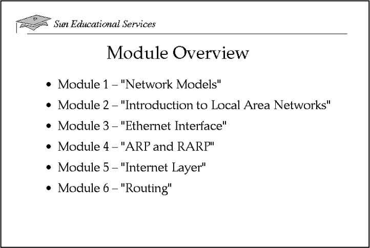 "Module-by-Module Overview This course contains the following modules: ● Module 1 – ""Network Models"" In"
