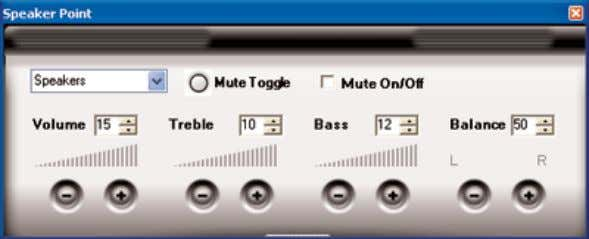 Treble, Bass, and Balance (supported values are 0 - 100). 9. (Optional) Configure the Speaker Point