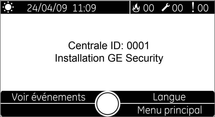 Centrale ID: 0001 Installation GE Security