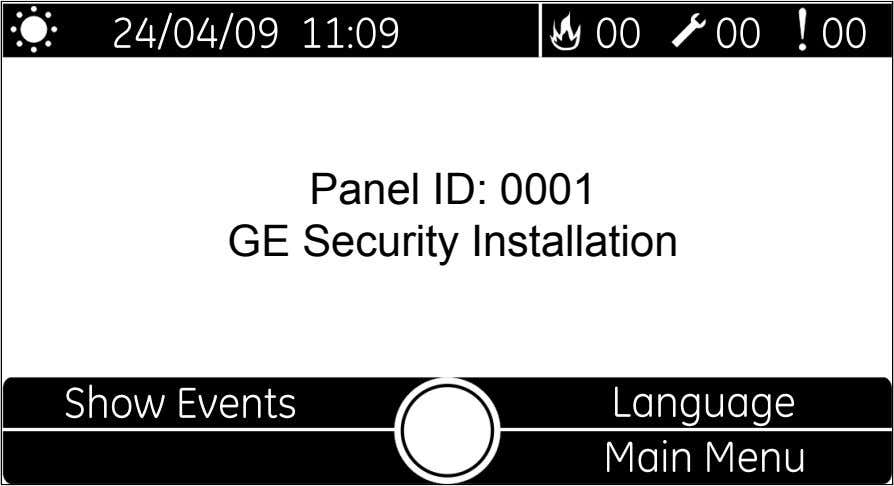 Panel ID: 0001 GE Security Installation