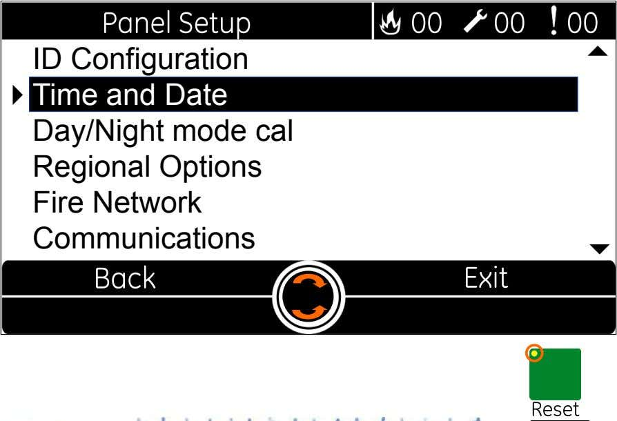  ID Configuration  Time and Date Day/Night mode cal Regional Options Fire Network Communications