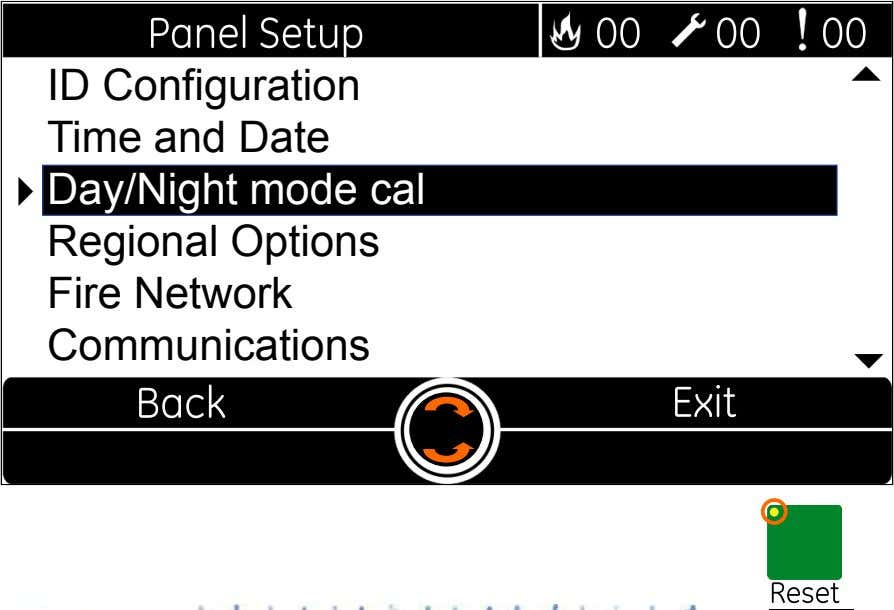  ID Configuration Time and Date  Day/Night mode cal Regional Options Fire Network Communications