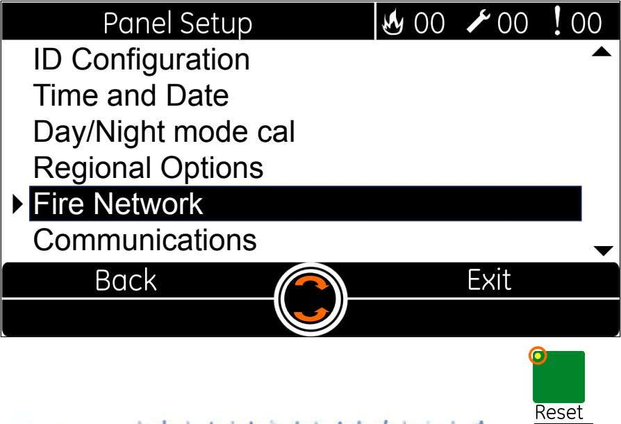  ID Configuration Time and Date Day/Night mode cal Regional Options  Fire Network Communications