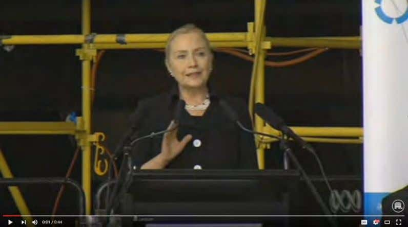 (Hillary Clinton, Remarks At Techport Australia , Adelaide, South Australia, 11/15/12) Click To Watch 1