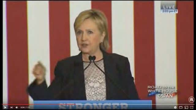 "Click To Watch On The Campaign Trail Clinton Says She Would Reject ""Bad Trade Deals…Including"