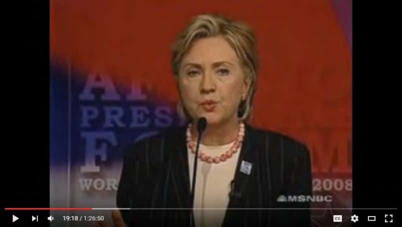 (Sen. Hillary Clinton, Remarks At The AFL - CIO Presidential Candidates Forum , Chicago, IL, 8/7/07)