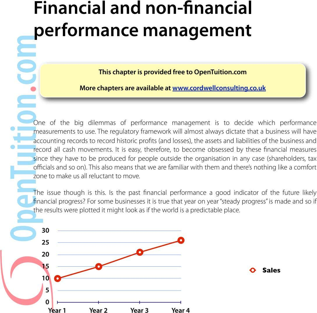 Financial and non- nancial performance management This chapter is provided free to OpenTuition.com More chapters