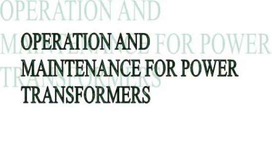1ZCL000002EG-EN– rev. 1 User's Manual Operation and Maintenance for Power Transformers
