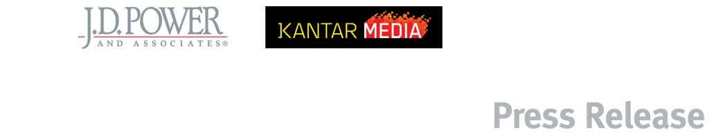 J.D. Power and Associates Announces Collaboration with Kantar Media to Enhance Media Analytics By Integrating Auto