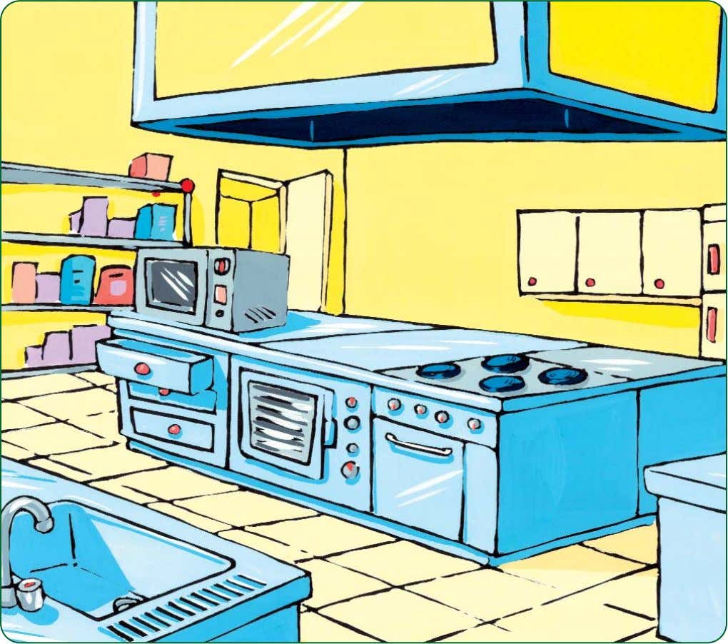 LESSON 1 3. Describe this kitchen: Décris cette cuisine : 4. Look at the drawing carefully,